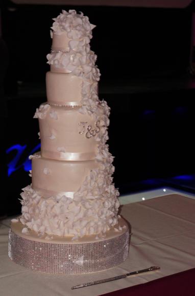 eggless cascading petal wedding cake