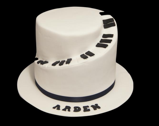 Spiral Piano Birthday Cake