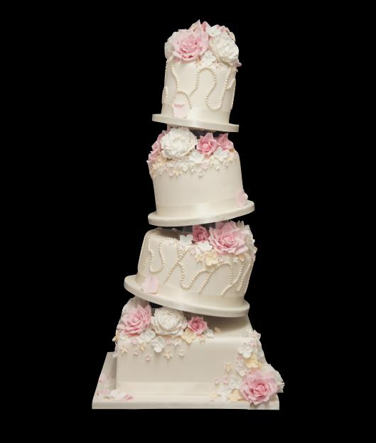 tumbling-sugar-flower-wedding-cake