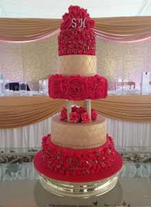 5-tier-red-gold-wedding-cake