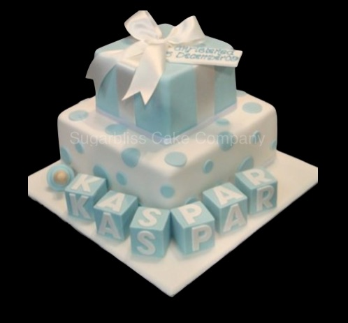 baby blocks christening cakes