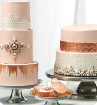 metalic-wedding-cakes