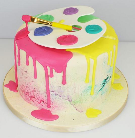 rainbow-drip-cakes