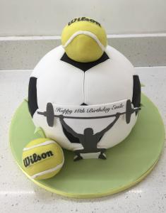 sports football tennis birthday cakes