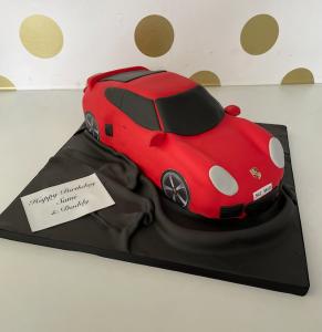porsche 911 car cake