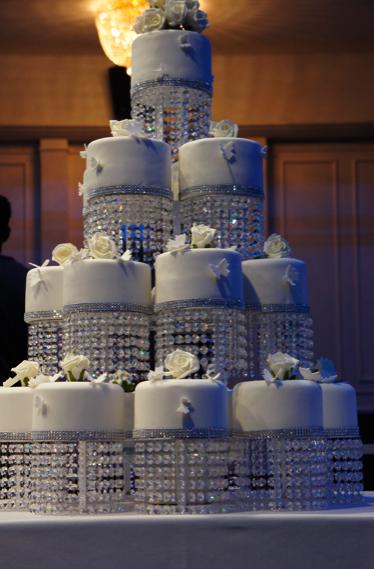 Tiered Wedding Cake Crystal Chandelier: Vtg hollywood glam silver ...