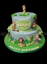 Juingle Animals Birthday Cakes