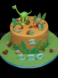 The Little Dinosaur Birthday Cake