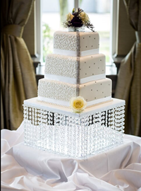 Crystal Diamante Wedding Cake
