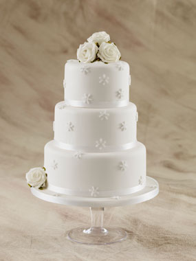 snow flake wedding cake