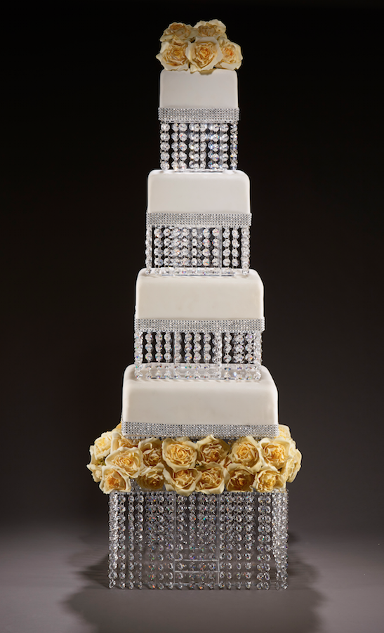 crystal wedding cakes in lafayette la wedding cakes pictures to pin on pinsdaddy 13122