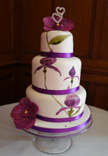 painted wedding cakes uk wedding cake gallery wedding cake pictures 18106
